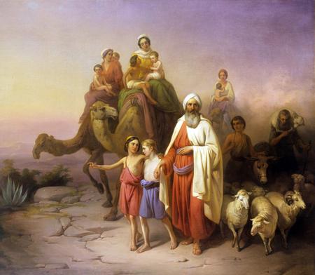 Abraham exode famille pays désert József Molnár