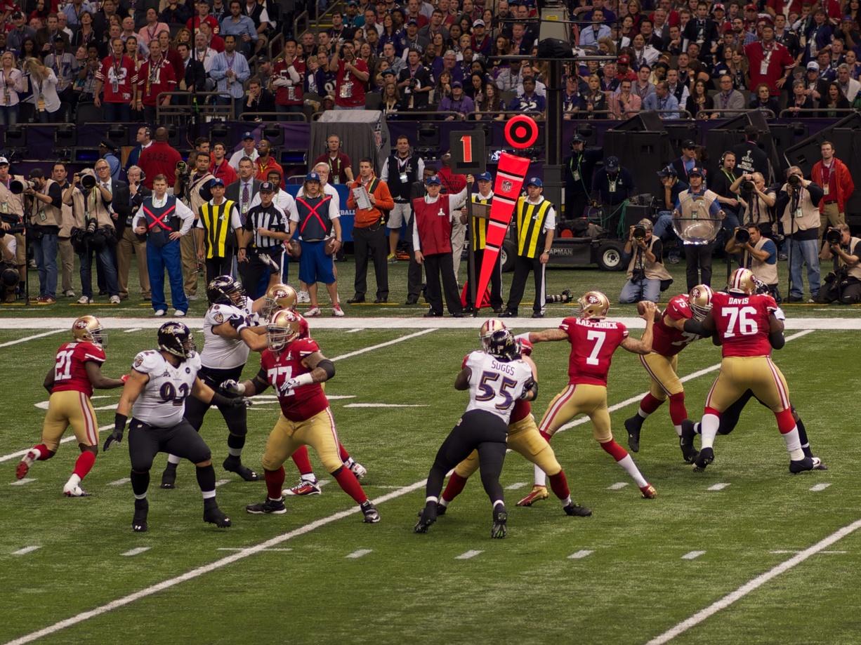 Joueurs football américain quarterback Colin Kaepernick San Francisco
