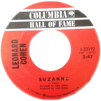 Album disque rouge musique Suzanne Leonard Cohen