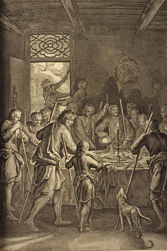 Israélites Pâques repas agneaux fête Gérard Hoet