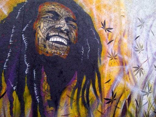 peinture jamaïcain Exodus Bob Marley