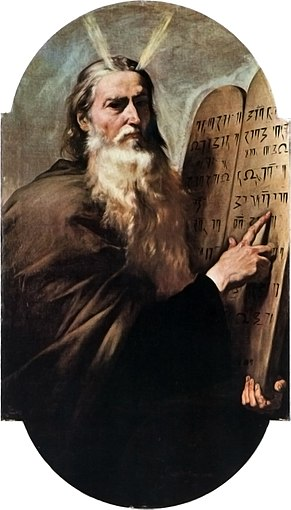 Moïse Tables de la Loi gravure Décalogue José Ribera