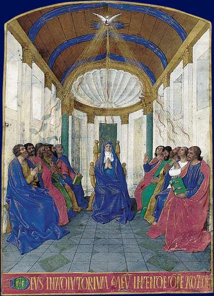 pentecôte lumière prière colombe esprit illumine Jean Fouquet