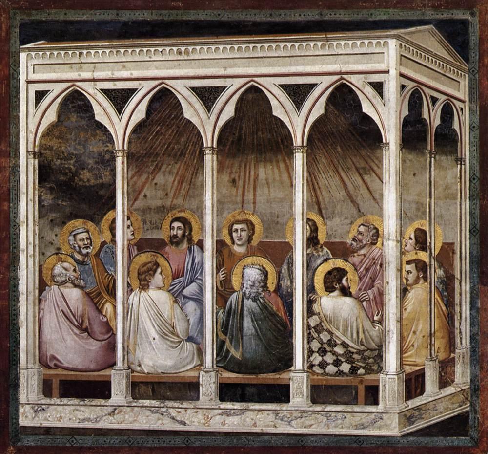 pentecôte lumière prière colombe esprit illumine Giotto di Bondone