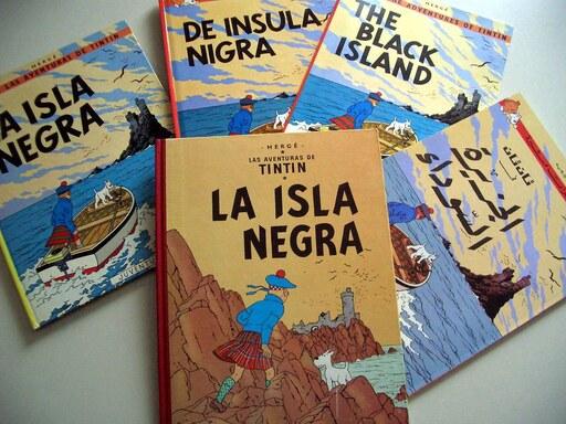 Bande-dessiné L'ile Noire résurrection Les Aventures de Tintin Hergé