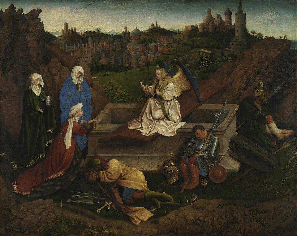 Résurrection femmes tombeaux Jésus soir sabbat Maris Jan van Eyck Hubert van Eyck