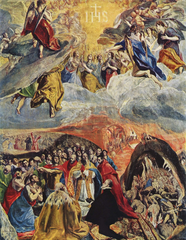 Adoration Jésus identité ciel El greco