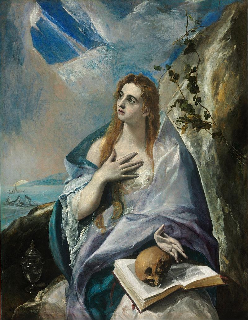 Marie-Madeleine pénitente regard ciel voile Le Greco