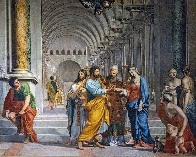Mariage vierge temple prêtre bague Jacques Stella