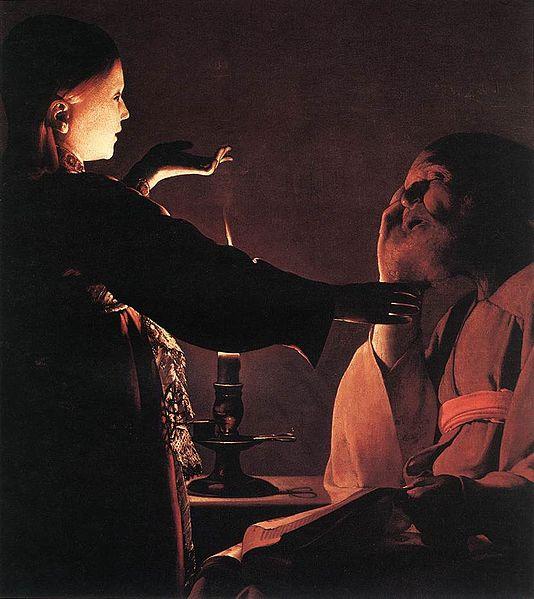 Ange Gabriel Joseph bougie lueur Georges de La Tour