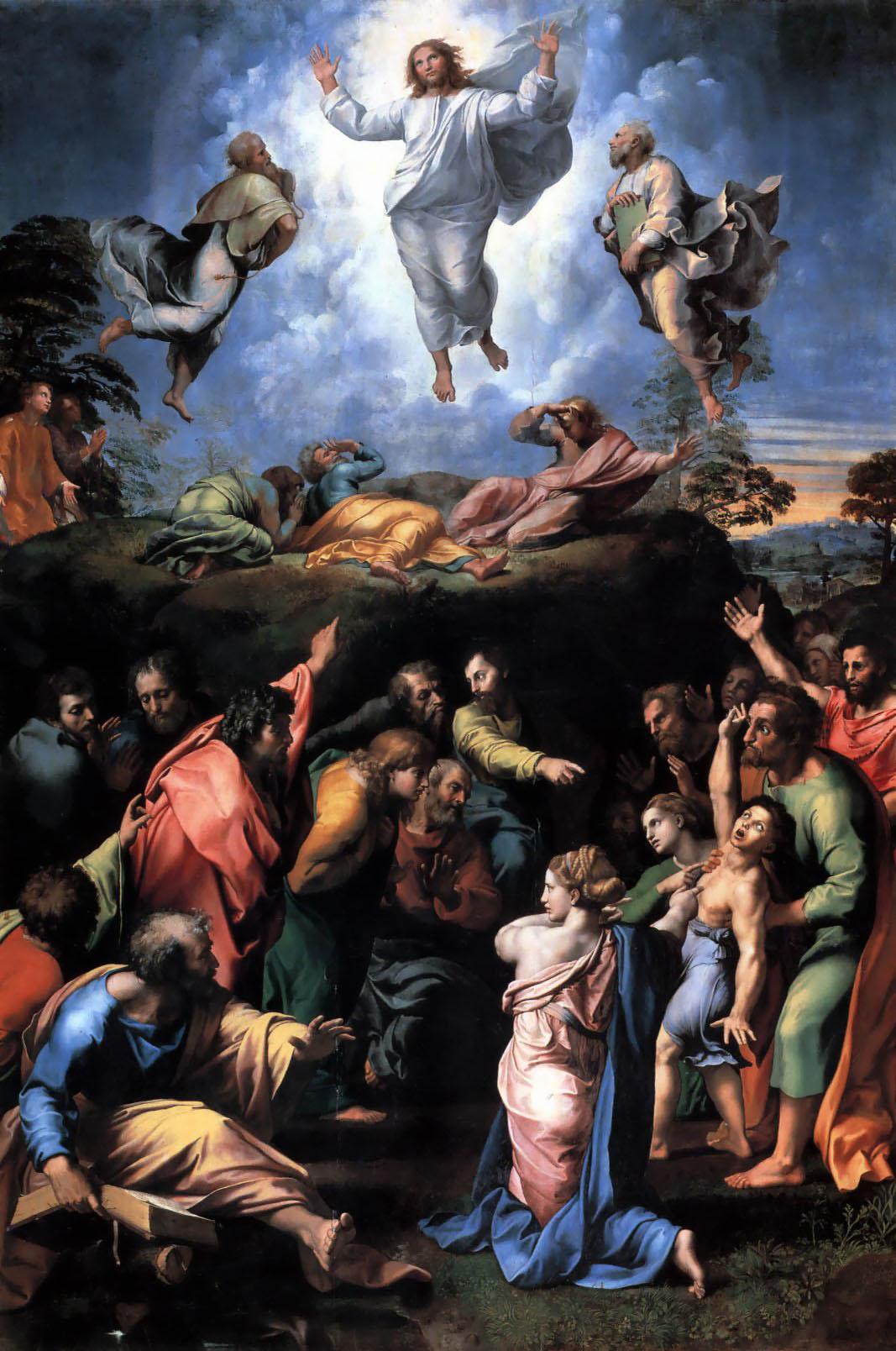 Transfiguration Dieu indivisible apparition dignité Raphaël