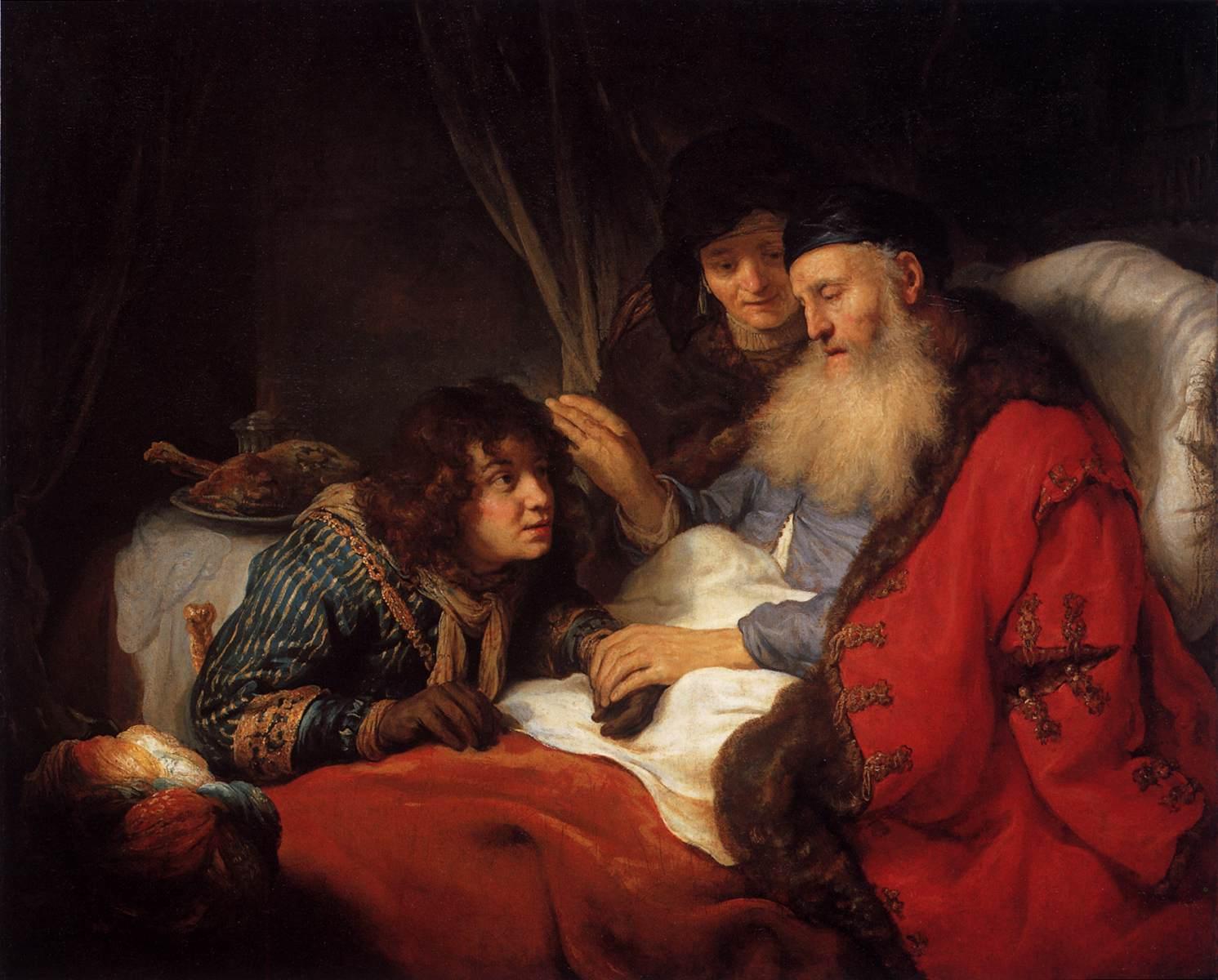Isaac bénédiction fils Jacob père enfant Govert Flinck