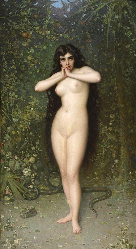 Eve première femme corps serpent nature création Bible Pantaleon Szyndler