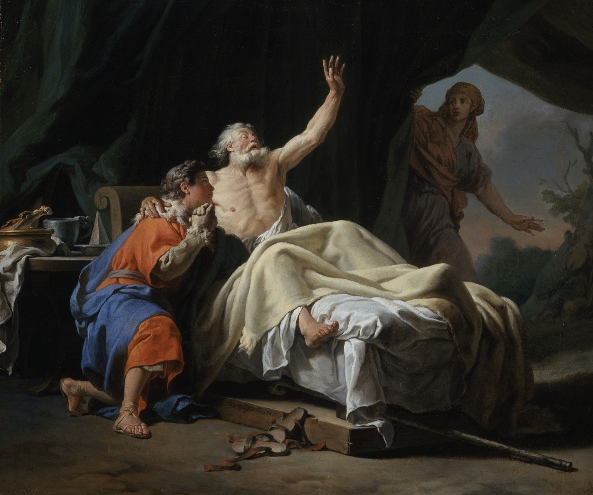 Bénédiction Jacob Isaac père main geste Nicolas-Guy Brenet