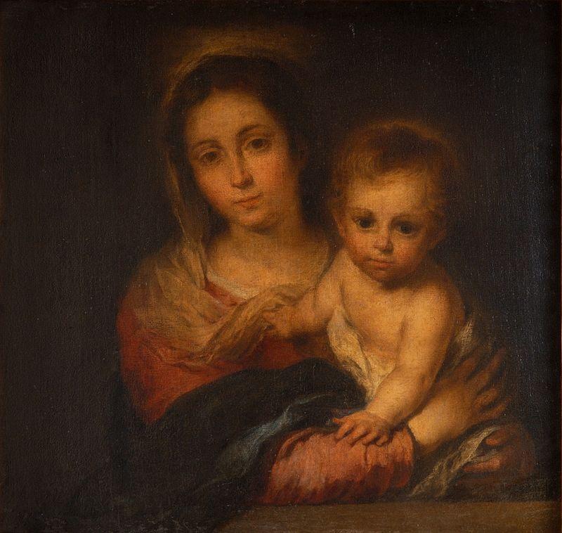 vierge marie enfant Jésus voile nu Bartolomé Esteban Murillo