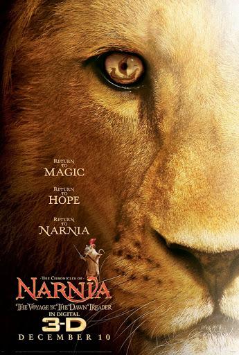 affiche film narnia lion oeil bateau jaune