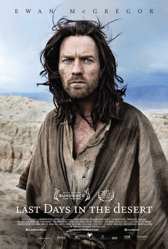 Affiche film cinéma américain tentations Christ Last Day in the Desert Erwan McGregor