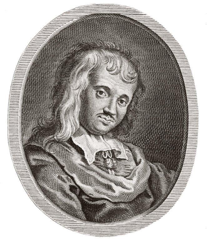 Portrait Paul Scarron drapé cheveux Roman Antoine Boizot