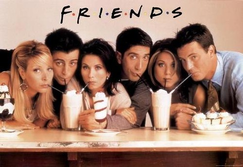 3 femmes 3 hommes boisson série américaine Friends regards