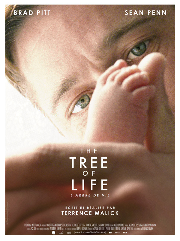 Affiche film américain naissance pieds regard The Tree of Life Brad Pitt Terrence Malick