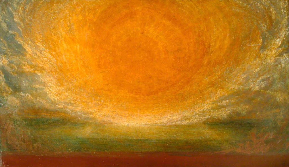 soleil chaleur orange ciel lumière George Frederic Watts
