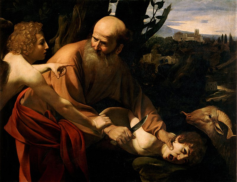 sacrifice ange fils couteau cri Le Caravage