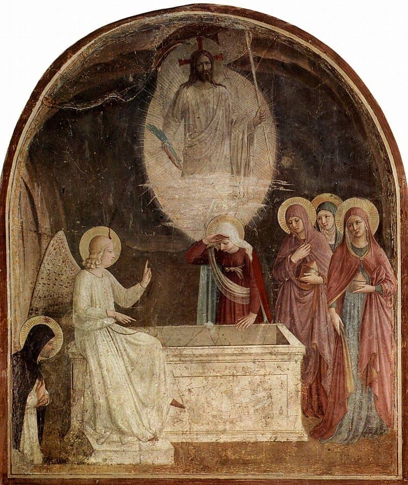 tombeau vide decouverte ange femme christ Fra Angelico