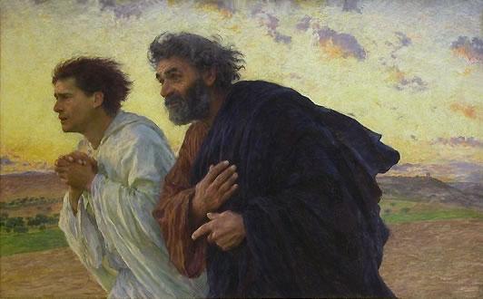 disciples pierre et jean tombeau marche inquiet