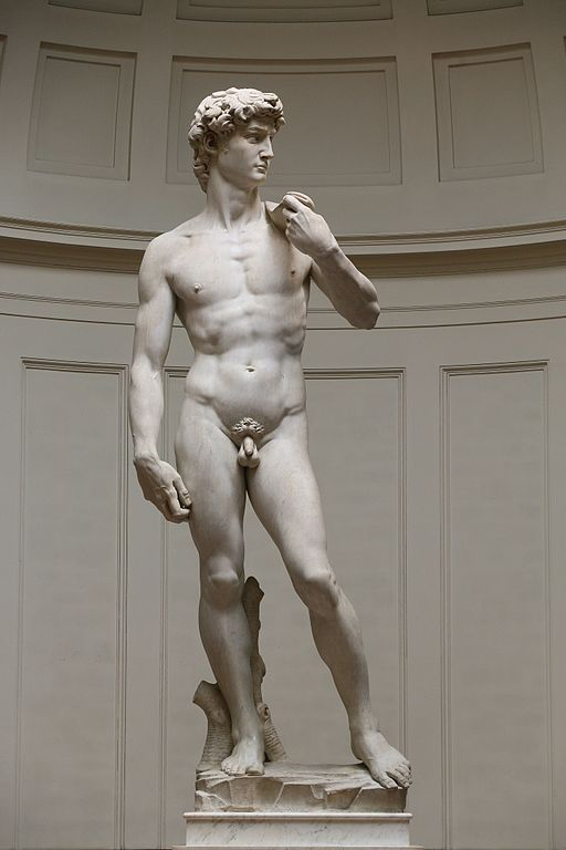 statue David nu Michel Ange