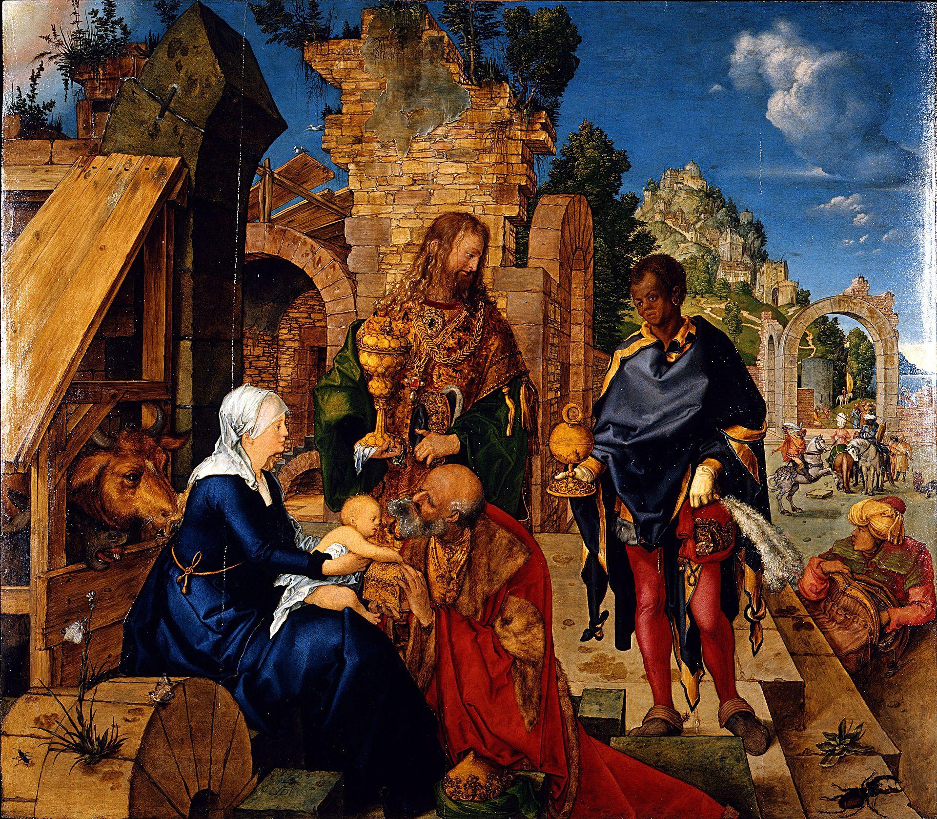 Adoration rois mages visite Jésus NativitéAlbrecht Dürer