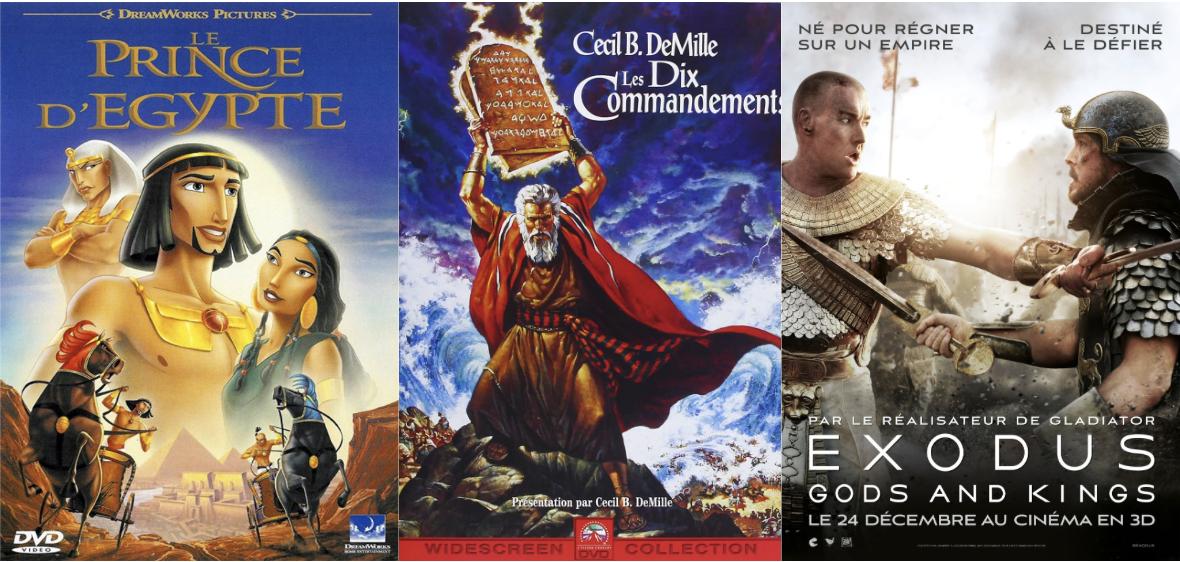 Affiche film Exodus Le Prince d'Egypte Les dix commandements