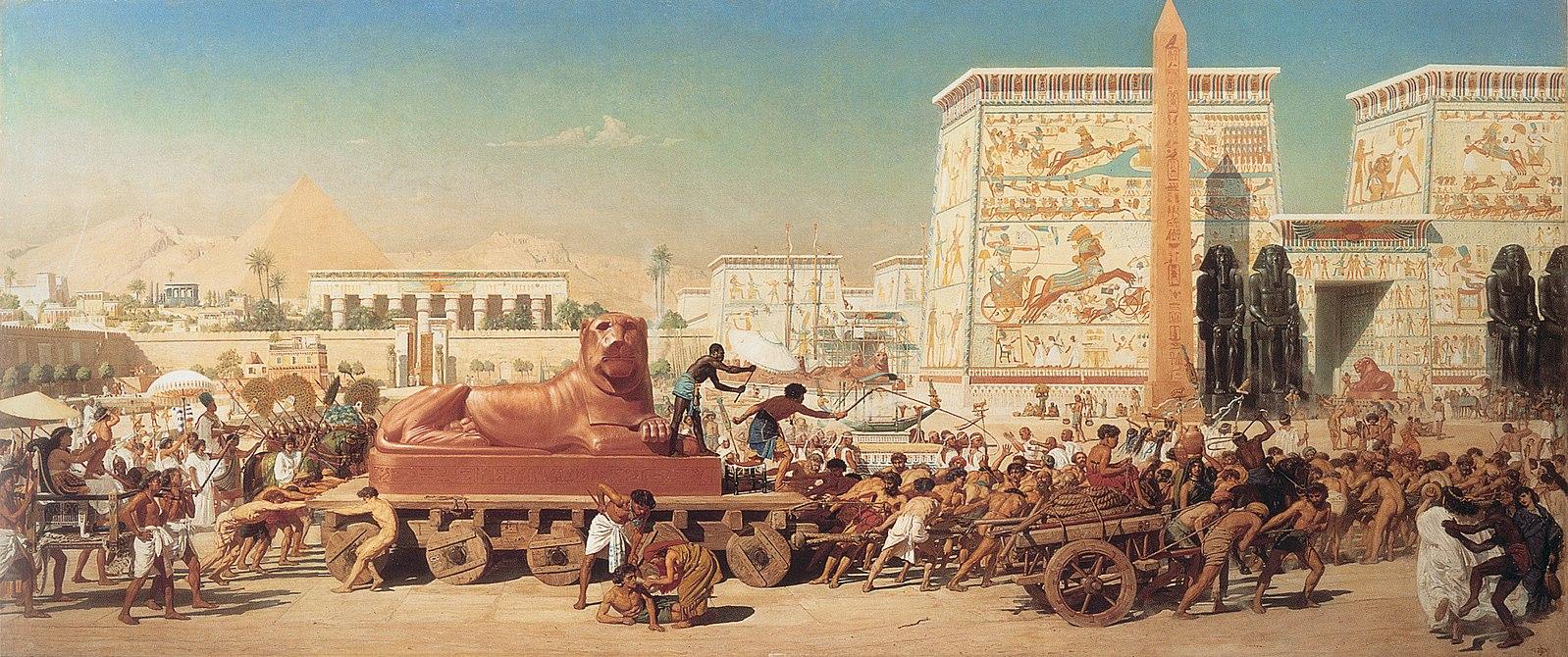 Israël Egypte histoire char ciel montagnes Edward Poynter