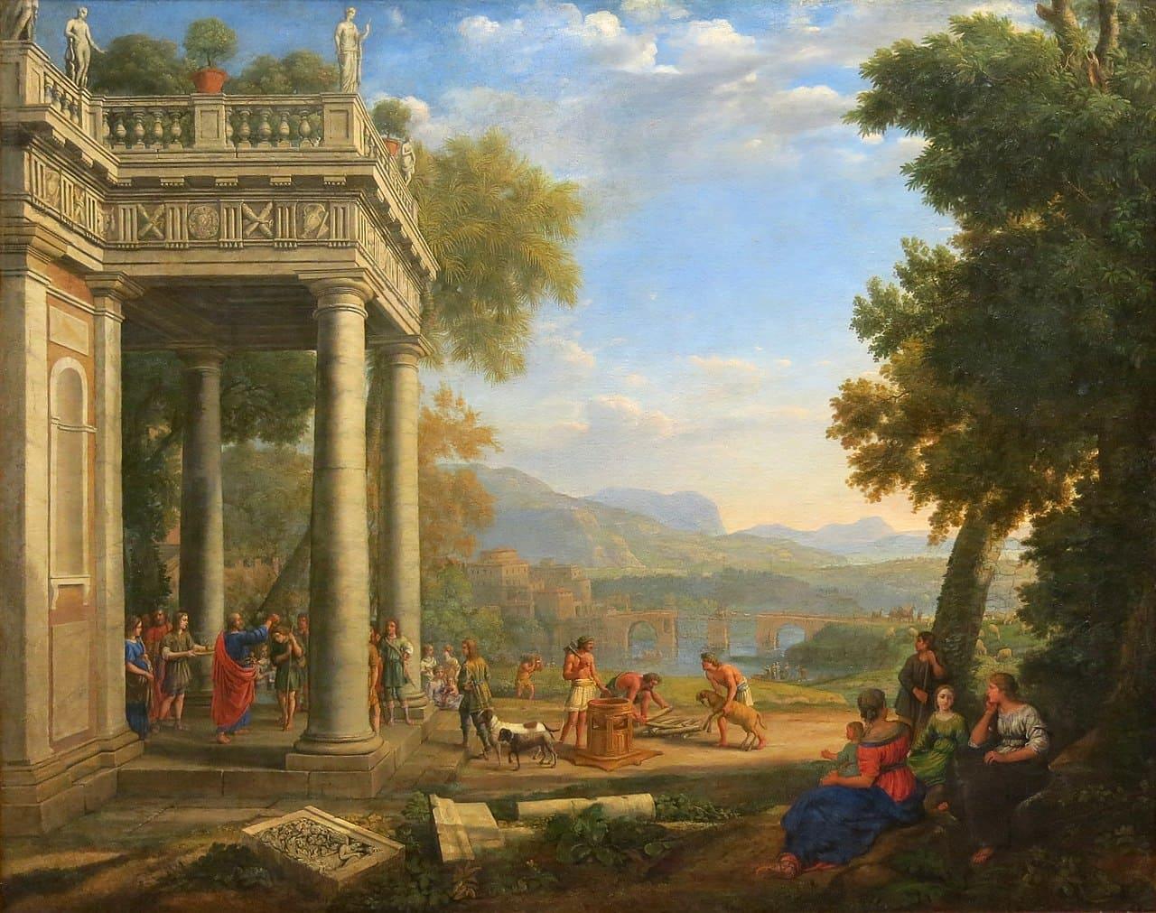 palais forêt prophètes David ville ciel bleu Claude Lorrain
