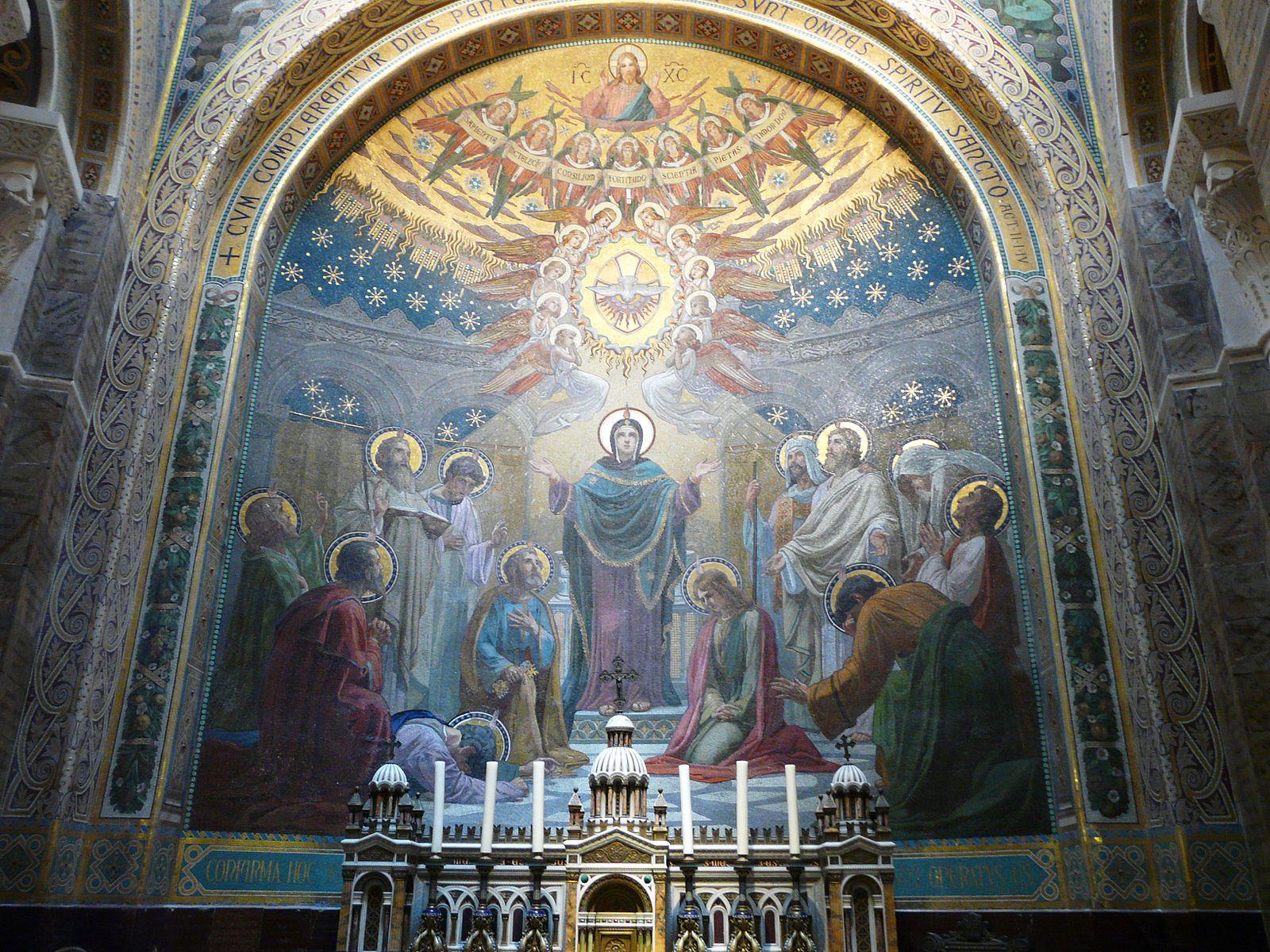 Mosaïque basilique fête religieuse Eugenio Cisterna