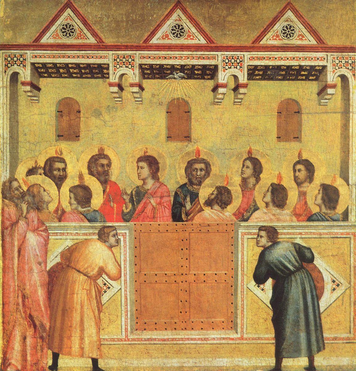 Pentecôte fête christianisme don Saint-Esprit flammes Giotto di Bondone