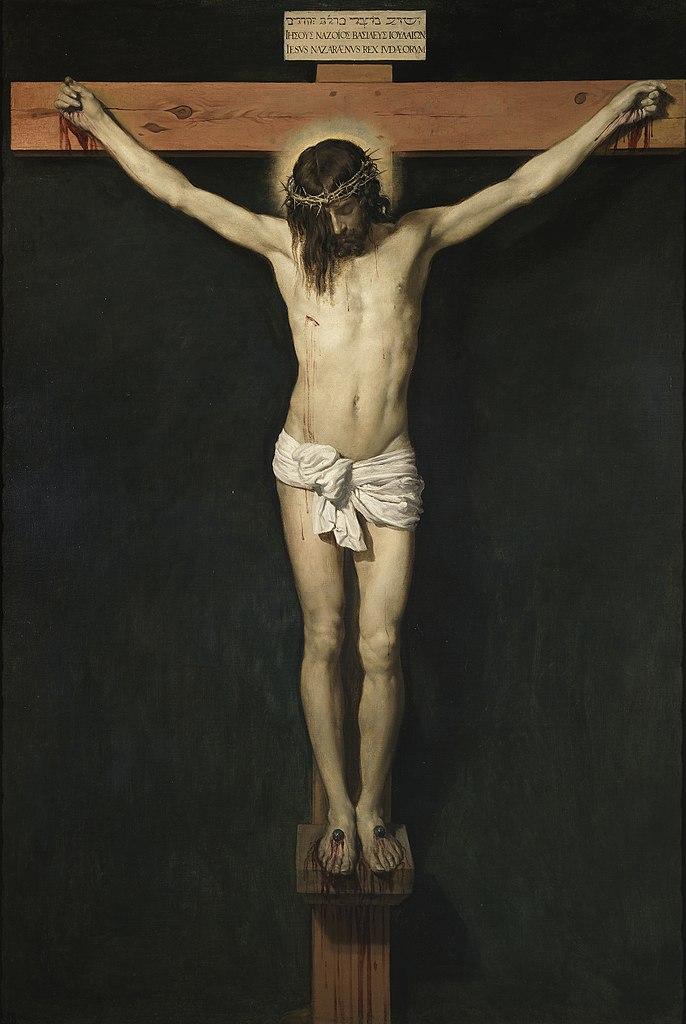 Christ crucifié croix couronne épine velasquez