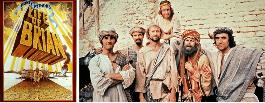 monty python life of brian affiche sketch groupe