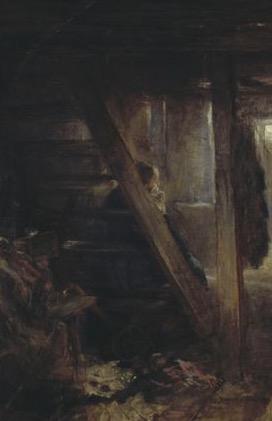 joseph escalier fond seul discret Fritz von Uhde