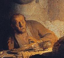 pèlerins emmaüs surprise recul détail Rembrandt