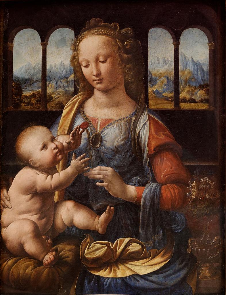 madone vierge enfant jésus Marie De Vinci