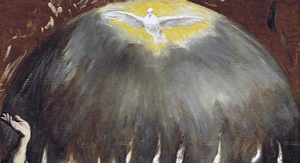 colombe blanche lumière ciel gris main le greco