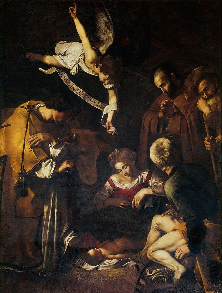 naitivité ange joseph marie jésus naissance saint françois saint laurent Le Caravage