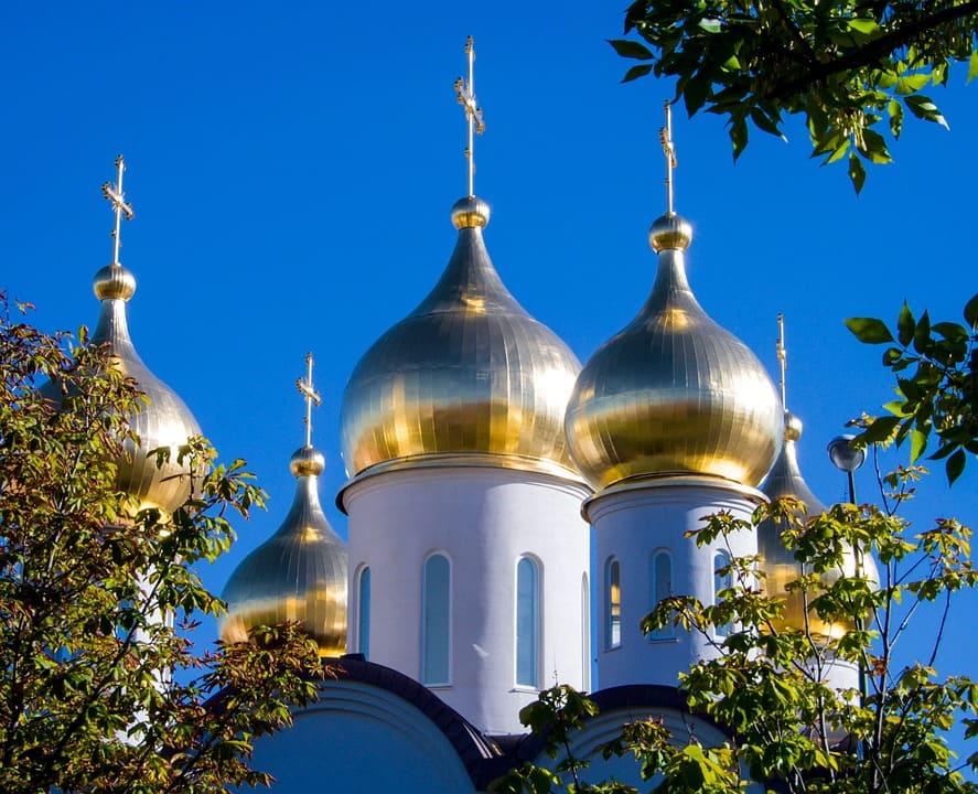cathédrale orthodoxe russe buble ciel bleu