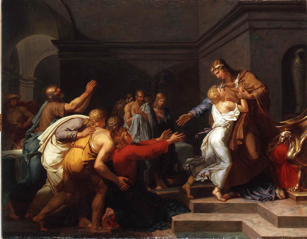 Joseph frères enfants câlin Anne-Louis Girodet de Roussy-Trioson