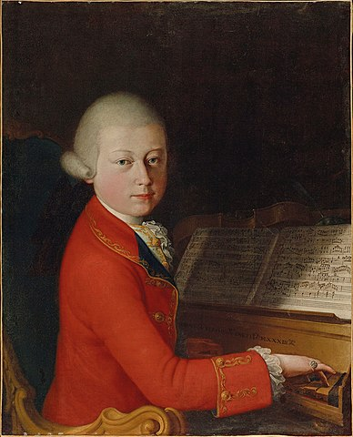 mozart enfant piano partitions costume rouge
