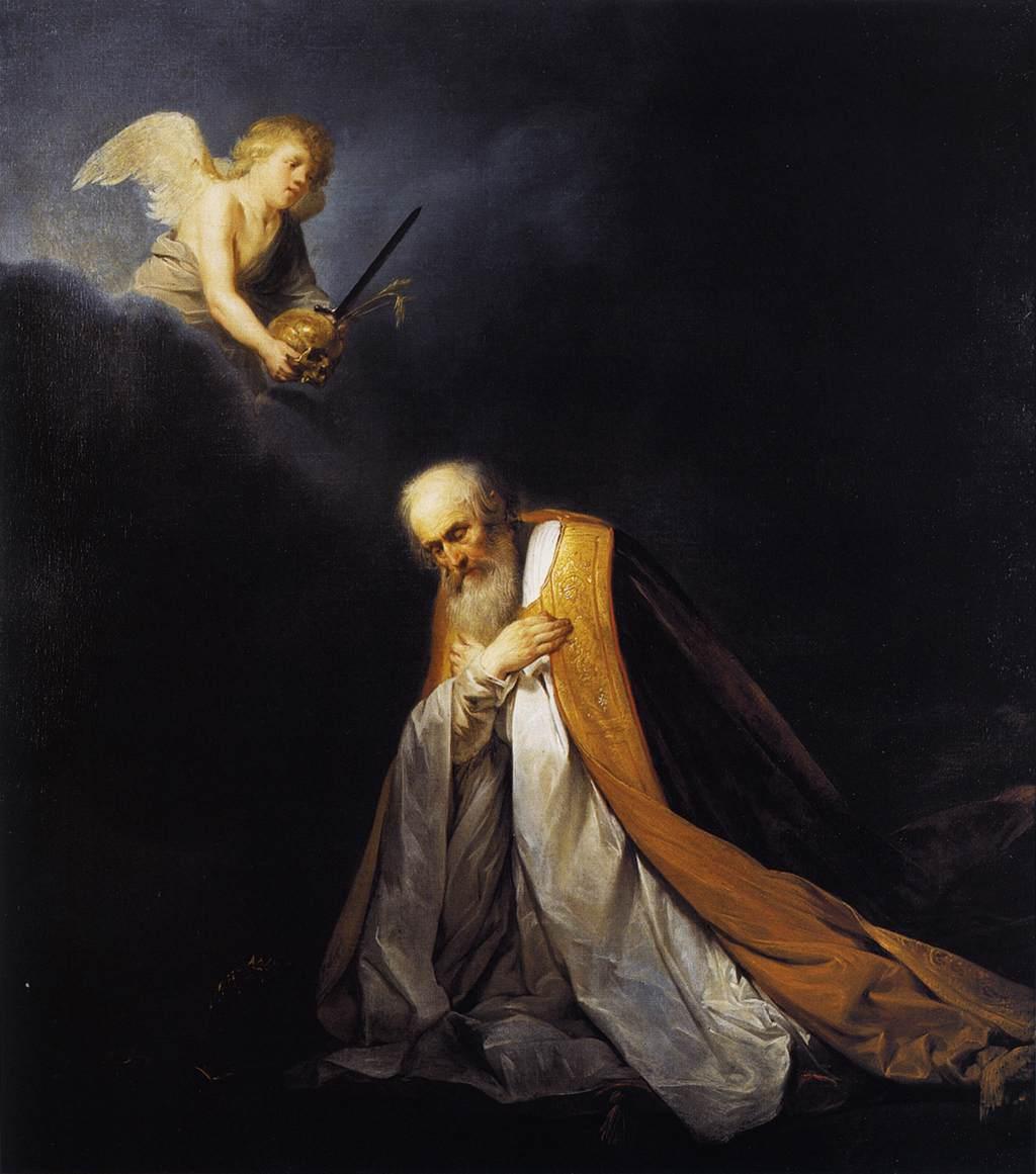 david prière ange nuage noirelumière à genou Grebber