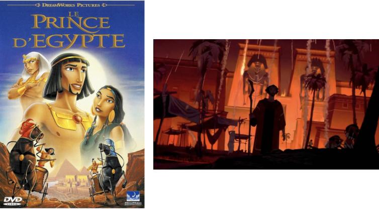 Affiche film dessin-animé Le Prince Egypte Dreamworks Egyptiens