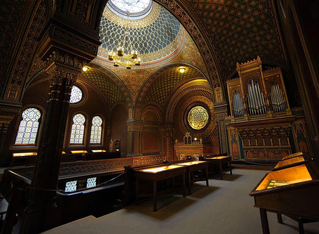 synagogue Prague plafond orgue