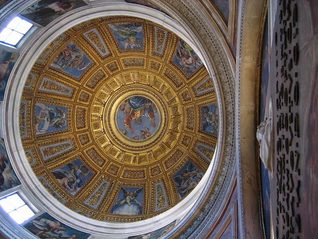 mosaïque plafond église création du monde Raphael