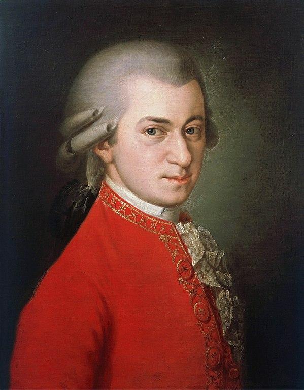 Mozart classique rouge coiffe profil